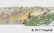 Physical Panoramic Map of Campina Grande d, semi-desaturated