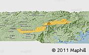 Savanna Style Panoramic Map of Campina Grande d