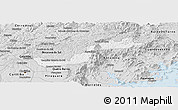 Silver Style Panoramic Map of Campina Grande d
