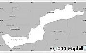 Gray Simple Map of Campina Grande d