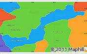 Political Simple Map of Campina Grande d