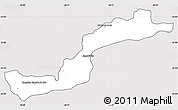 Silver Style Simple Map of Campina Grande d, cropped outside