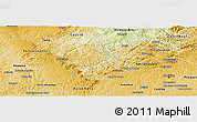 Physical Panoramic Map of Campo
