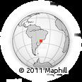 Outline Map of Curitiba