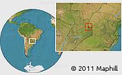 Physical Location Map of Foz Do Iguacu