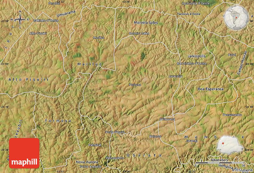 Satellite Map of Goio-Ere