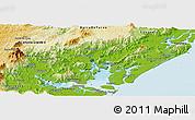 Physical Panoramic Map of Guaraquecaba