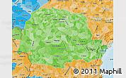 Political Shades Map of Parana