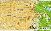 Physical 3D Map of S. Jose dos Pinh