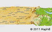 Physical Panoramic Map of S. Jose dos Pinh