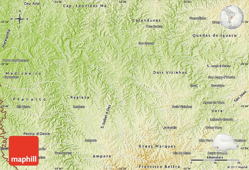 Physical Map of Salto Do Londra