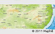 Physical 3D Map of Pernambuco