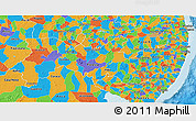 Political 3D Map of Pernambuco
