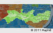 Political Shades 3D Map of Pernambuco, darken