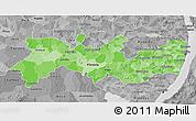 Political Shades 3D Map of Pernambuco, desaturated
