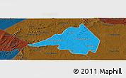 Political Panoramic Map of Afranio, darken
