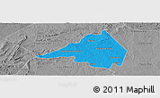 Political Panoramic Map of Afranio, desaturated