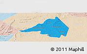 Political Panoramic Map of Afranio, lighten