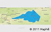 Political Panoramic Map of Afranio, physical outside