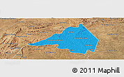 Political Panoramic Map of Afranio, satellite outside
