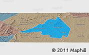 Political Panoramic Map of Afranio, semi-desaturated