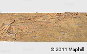 Satellite Panoramic Map of Afranio
