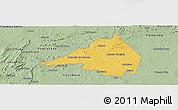 Savanna Style Panoramic Map of Afranio