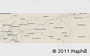 Shaded Relief Panoramic Map of Afranio
