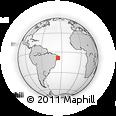 Outline Map of Agua Preta