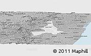 Gray Panoramic Map of Agua Preta