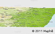 Physical Panoramic Map of Agua Preta