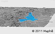 Political Panoramic Map of Agua Preta, desaturated