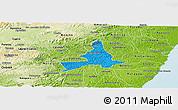 Political Panoramic Map of Agua Preta, physical outside
