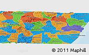 Political Panoramic Map of Agua Preta