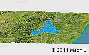 Political Panoramic Map of Agua Preta, satellite outside