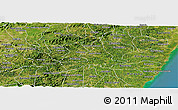 Satellite Panoramic Map of Agua Preta