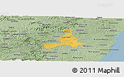 Savanna Style Panoramic Map of Agua Preta
