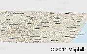 Shaded Relief Panoramic Map of Agua Preta