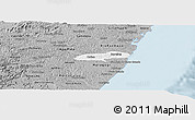 Gray Panoramic Map of Barreiros
