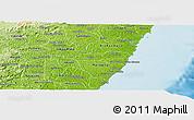 Physical Panoramic Map of Barreiros