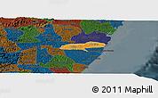 Political Panoramic Map of Barreiros, darken