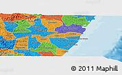 Political Panoramic Map of Barreiros