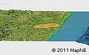 Political Panoramic Map of Barreiros, satellite outside