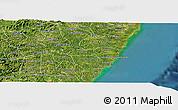 Satellite Panoramic Map of Barreiros
