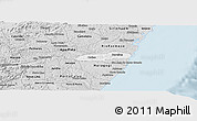 Silver Style Panoramic Map of Barreiros