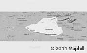 Gray Panoramic Map of Belem de Sao Fco