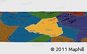 Political Panoramic Map of Belem de Sao Fco, darken