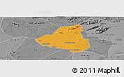 Political Panoramic Map of Belem de Sao Fco, desaturated