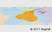 Political Panoramic Map of Belem de Sao Fco, lighten