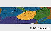 Political Panoramic Map of Betania, darken